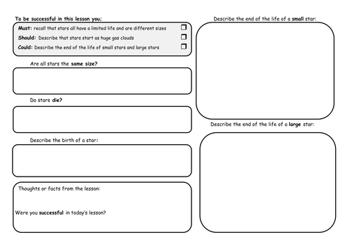 Life Cycle Of Stars Worksheet Sharebrowse – Mathland Worksheets