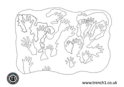 cave paintings coloring pages - photo#10