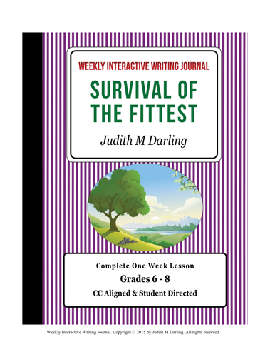Survival Of The Fittest - CC Aligned Weekly Interactive Writing Notebook Lesson