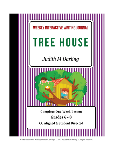 Design Your Own Tree House-CC Aligned Interactive Weekly Writing Notebook Lesson