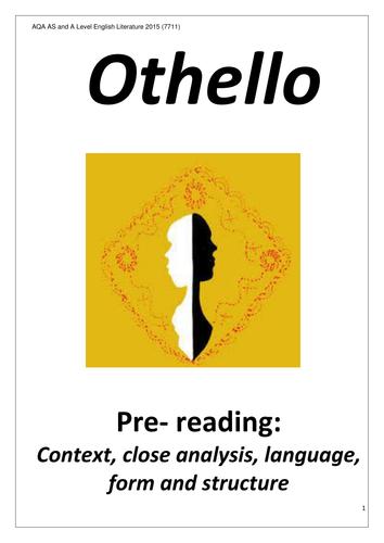 Othello for A Level pre-reading