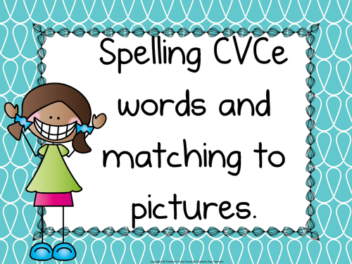 Reading and spelling CVCe words