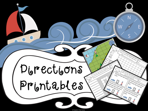 Directions and co-ordinates printables