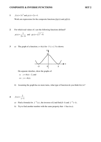 Higher Maths Straight Lines, Composite and Inverse Functions and ...