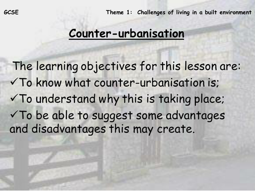 Counter Urbanisation Mystery Lesson