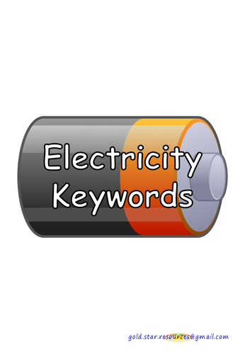 Electricity Keywords on Batteries