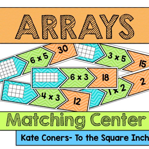 Arrays Matching Center and Recording Sheet CCSS: 3.OA.A.3A