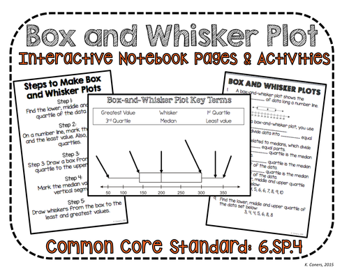 Box And Whisker Plot No Prep Interactive Notebook Pages Ccss 6sp4