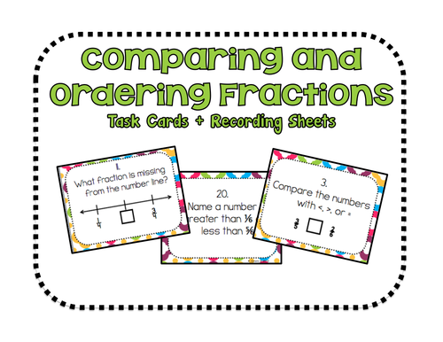 Common Worksheets Ordering Fractions From Least To Greatest – Compare and Order Fractions Worksheets