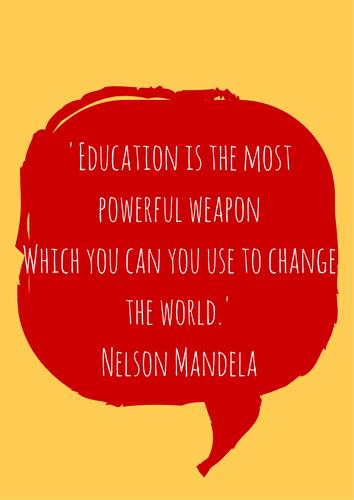 Nelson Mandela Quote Poster