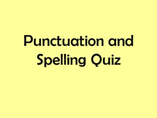 Punctuation and Spelling Quiz