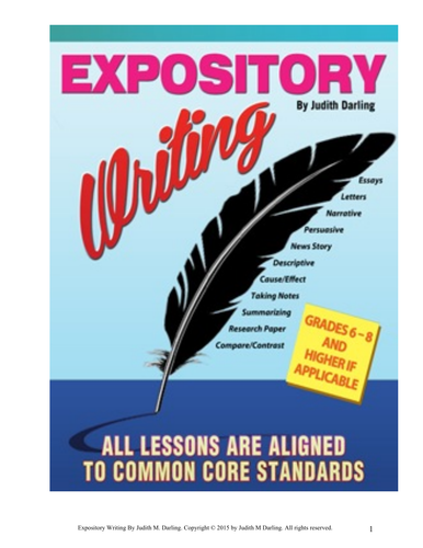 EXPOSITORY LESSON PLAN 7 -Writing a Cause and Effect Essay