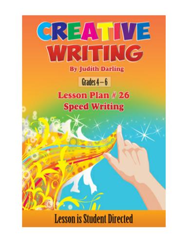 FREE CREATIVE WRITING LESSON PLAN - Speed Writing
