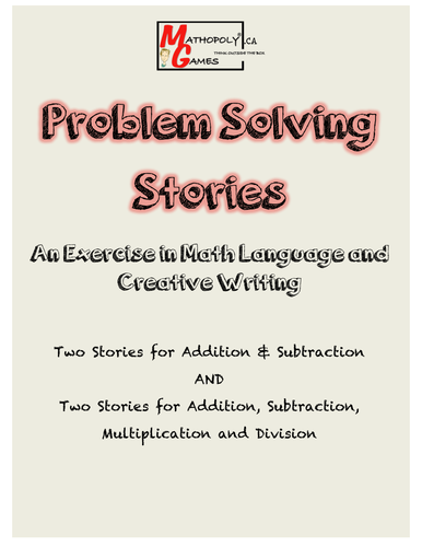 Problem Solving Math Stories and Language Arts