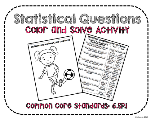 Statistical Questions Color and Solve No Prep Activities