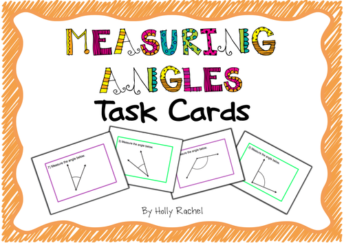 Measuring Angles Activity Cards