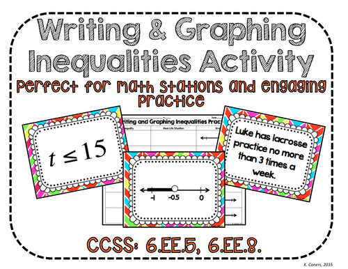 Writing & Graphing Inequalities Activity Cooperative Learning Activity