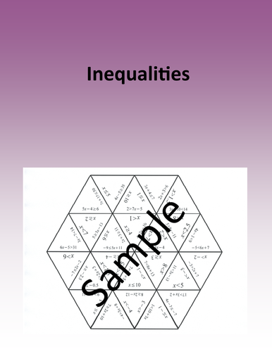 Inequalities – Math puzzle