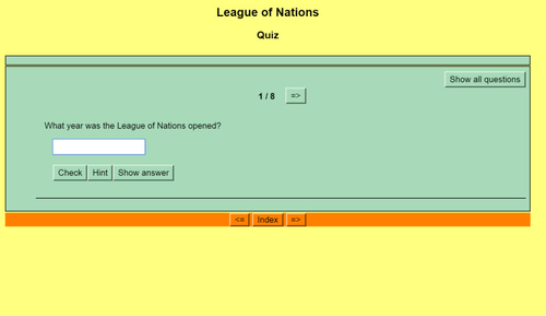 Origins of World War II: Quiz 3 - League of Nations_ Threats to Peace