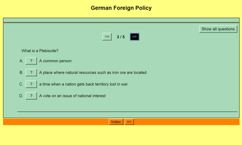 Origins of World War II: Quiz 8 - Germany reoccupies Rhineland; Japan invades China