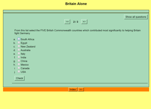 Origins of World War II: Quiz 14 - Britain Alone
