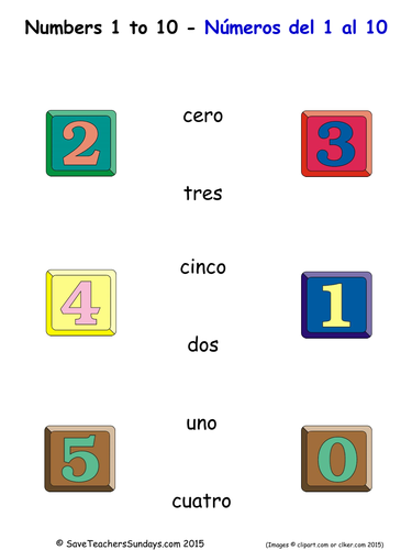 spanish numbers 1 to 10 worksheets and activities by saveteacherssundays teaching resources. Black Bedroom Furniture Sets. Home Design Ideas
