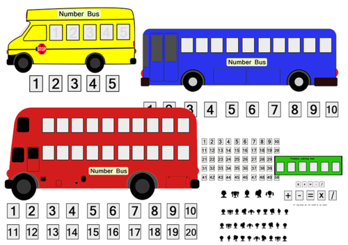 Number Bus - with sum sheet