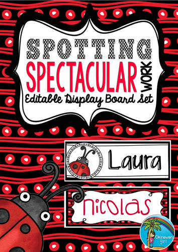 Display Set: Spotting Spectacular Work {EDITABLE}