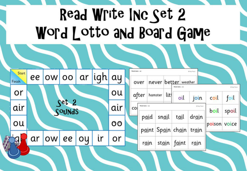 Phonics Read Write Inc Set 2 - Word Lotto and Board Game