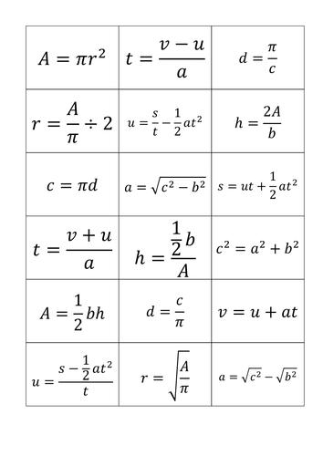 Printables Rearranging Formulas Worksheet changing the subject rearranging formulae lesson and card sort by lloydie1990 teaching resources tes