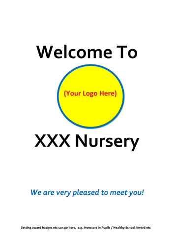 Nursery Welcome / Introduction / New Starter Booklet