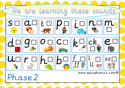 Phonics for Reception