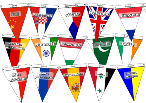 Bunting Welcome Flags