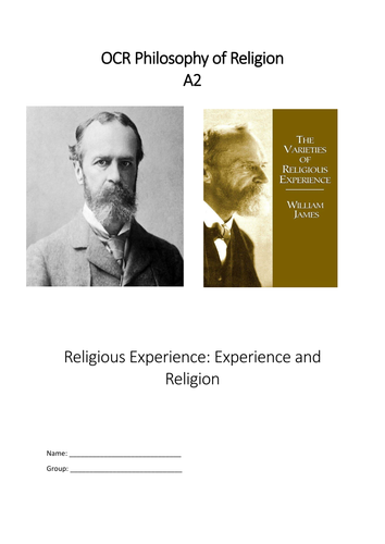 OCR A Level Religious Studies Religious Experience