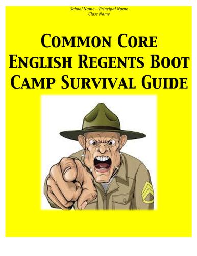Common Core English Regents Survival Guide
