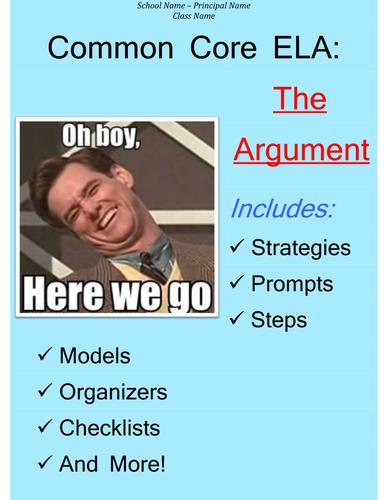 Common Core Argumentative Essay Boot Camp Survival Guide