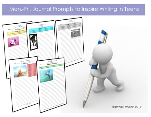 Themed Journal Topics for Teens (Weekly Packet)