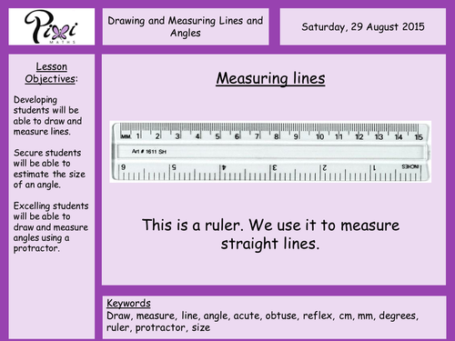 Drawing Lines In Cm Worksheet : Measuring and drawing lines activity worksheet by auntie