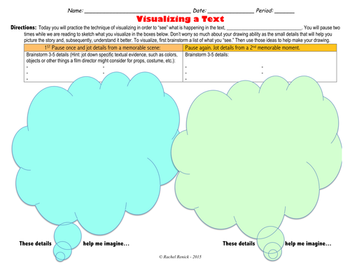 Visualizing Worksheet for ANY Text (with Reflection Component)