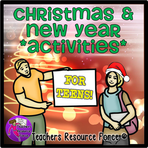 Christmas and New Year's Activities for tutor time!