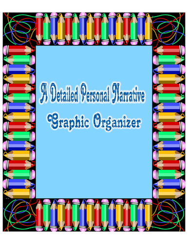 A Detailed Personal Narrative Organizer
