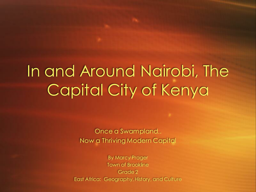 Nairobi - Presentation