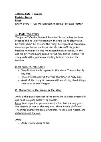 Critical essay on the sidewalk bleeding pdf