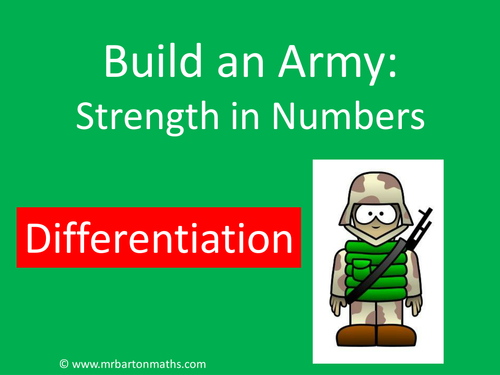 Build an Army: Differentiation