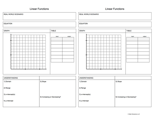 Function Link Sheet Package (24 Full Page Templates)