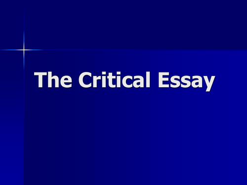 Intermediate 2 english critical essay revision
