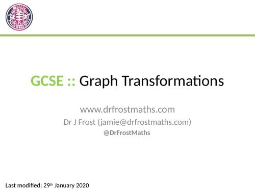 GCSE Transformations of Graphs