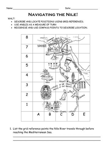 Egypt Themed Map Work Coordinates Activity By Jsinnamon086
