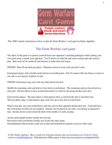 Germ Warfare card game
