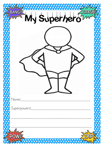 Superhero Activities by gemcorcor | Teaching Resources